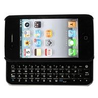 iPhone 4 case with slide-out keyboard that connect to your phone through Bluetooth. Great if you hate typing on a touch screen.