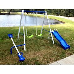 Superbe Flexible Flyer Swing U0027N Glide Metal Swing Set | Kids | Pinterest | Metal Swing  Sets