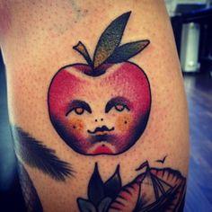 Apple tattoo by Jemma Jones
