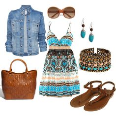 summer, created by maecee on Polyvore