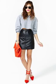 Devils Angel Leather Skirt