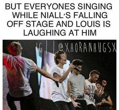That'd be my luck. I mean, you know, make it big time with millions of adoring fans then just fall off stage.