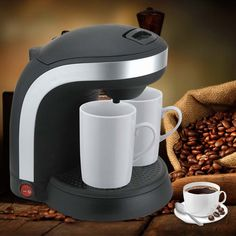 ==> [Free Shipping] Buy Best Electric Double Serve drip coffee maker Cafetera express Fully automatic coffee machine 2 Cups Kitchen Appliances 220-240V Online with LOWEST Price | 32528150514