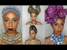 4 Different ways to tie a headwrap/ turban || Jessica Pettway - YouTube