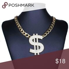 Cash Money Necklace New Cash Money Necklace gold plated. Approx 15 inches. See boutique for more fashions!  #love #beauty #makeup #fashion #swimsuit #streetwear #style #trend #boho #matte #201 #designer #crop #mid #wedding #marriage #women #plussize #plus #petite #small #medium #large #unicorn #brush #gold #silver #human #hair #dress #shirt #short #top #sunglasses #watches #jewelry #choker #multilayer #bohemian #rings #leggings #necklace #bracelet #crop #mini #sweater #animal #print Rima…
