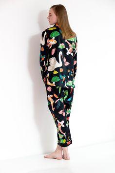 53c7db5a67 Koi Carp Silk Shirt. Silk SleepwearKoi CarpLucid DreamingMabonAw17Silk  Pajamas