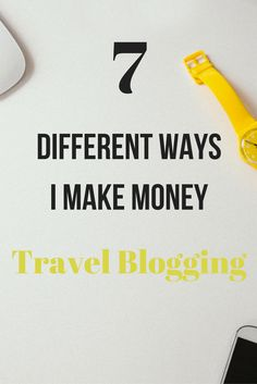 7 different ways I make money travel blogging around the world.