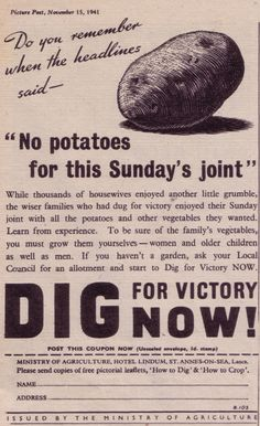 Retro Ads, Vintage Ads, Vintage Posters, Wartime Recipes, Dig For Victory, Food Rations, 1940s Kitchen, Womens Institute, Wpa Posters