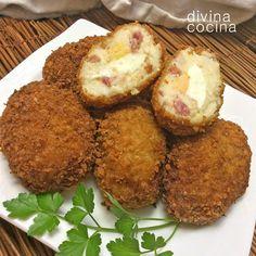 huevos-con-bechamel Ingredientes para 12 huevos con bechamel 4 huevos duros 4 cucharadas de harina 4 cucharadas de mantequilla 400 ml de leche