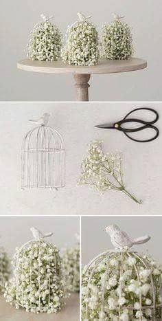 25 Really Amazing Birdcage Wedding Centerpieces (With .- 25 wirklich erstaunliche Birdcage Hochzeit Mittelstücke (mit Tutrial) – Hochzeit 25 Really Amazing Birdcage Wedding Centerpieces (With Tutrial) - Wedding Table Decorations, Diy Centerpieces, Decor Wedding, Birdcage Centerpieces, Birdcage Wedding Decor, Wedding Themes, Diy Wedding Crafts, Whimsical Wedding, Wedding Ceremony