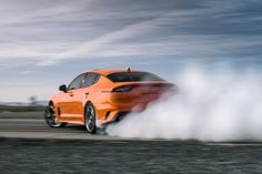 The 2020 Kia Stinger GTS Limited-Edition debuts at the New York Auto Show with a special orange paint job and ready to drift. Bmw X7, Jaguar Xe, Hyundai Veloster, Ford Flex, Kia Motors, Ferrari California, Ford Super Duty, Kia Optima, Audi Rs
