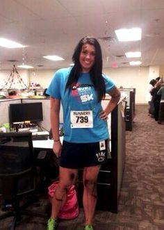 Alicia Ann Lynch, a 22-year-old from Michigan, tweeted and instagrammed a photo of herself at work dressed as a Boston Marathon bombing victim for Halloween. | What Happens When You Dress As A Boston Marathon Victim And Post It On Twitter