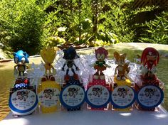 Super Sonic Hedgehog Birthday party favors by angilee123 on Etsy, $40.00