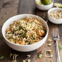 Spicy Peanut Sauce with Brown Rice Noodles and Veggies
