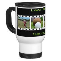 Get Out There And Bowl, White Commuter Coffee Mug