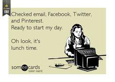 social media to start the day...