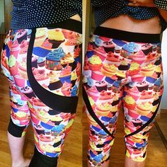 Chrystal's cupcake PB Jam capris are THE sweetest thing! Sweetest Thing, Swirl Design, Pattern Making, Workout Leggings, Cupcake, Sewing Patterns, Instagram Posts, How To Make, Collection