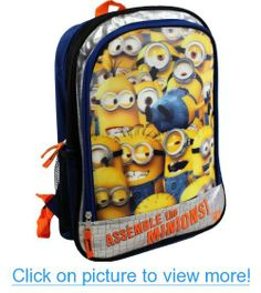 Despicable Me Assemble the Minions Lenticular 16 Children's School Backpack