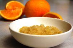 a simple DIY :: orange sugar scrub
