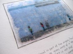 Transfer printed images onto watercolor paper using mod pudge! Use this technique on sea glass and it's GORGEOUS.