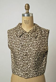 Balenciaga F/W 1962 silk blouse and sash. The Met, gift of the Gilinsky family in memory of Alberta Steinman Gilinsky, Accession Number: a, b 1960s Fashion, Vintage Fashion, Vintage Style, Balenciaga Vintage, House Of Blouse, Fashion Portfolio, Beautiful Outfits, Beautiful Clothes, Fashion History