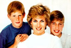 Harry, Diana and William