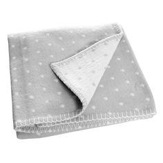 Farg & Form Soft Prickig Dotty Pram/Cot Blanket - Grey/White