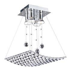 PLC Lighting 72153 PC 4 Light Ceiling Light Cereus Collection - Semi Flush Mount Ceiling Light Fixtures - Amazon.com