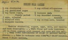 This lady has scanned her mothers vintage recipe cards onto flickr. Some amazing family recipes, some old fashioned ingredients I have never heard of! Wonderful.