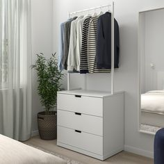3 Drawer Chest, Drawer Unit, Chest Of Drawers, Home Organization, Organizing Your Home, Nordli Ikea, Dresser Storage, Bedroom Storage, Ikea Family