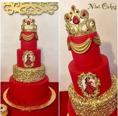 Like the swag and gold My Birthday Cake, Birthday Bash, Birthday Parties, Royalty Baby Shower Theme, Bolo Fack, Movie Cakes, 50th Party, Little Girl Birthday, Quinceanera Party