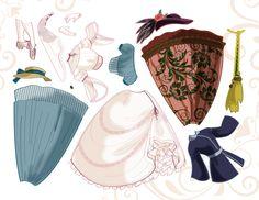 Princess Paper Dolls -sheet 4 by BetterthanBunnies