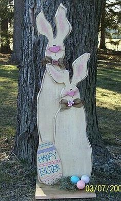 Easter wood Crafts Rabbit Cute Bunny is part of Easter outdoor - Welcome to Office Furniture, in this moment I'm going to teach you about Easter wood Crafts Rabbit Cute Bunny Easter Projects, Easter Crafts For Kids, Easter Ideas, Easter Decor, Primitive Patterns, Wood Patterns, Henna Patterns, Hoppy Easter, Easter Bunny