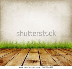 Old wall and green grass on wood floor background by robert_s, via Shutterstock Old Wall, Wood Background, Green Grass, Stock Photos, Flooring, Wood Floor, Plants, Backgrounds, Wood Flooring