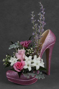 25 Ways to Recycle Shoes for Planters - creative use of recycled shoes, DIY recycled crafts, DIY crafts for the home decor - Recycled Shoes, Recycled Crafts, Deco Floral, Floral Design, Shoe Crafts, Diy Crafts, Estilo Coco Chanel, Shoe Containers, Silk Floral Arrangements