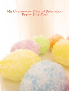 DIY::Epson Salt Easter Eggs (I am so making these ! My Favorite Egg Decor So Far ! And So Easy !  | My Uncommon Slice Of Suburbia