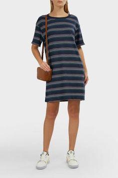 Wildfox Cheri Saige Striped Dress In Stripes Cotton Slip, Dress Outfits, Dresses, Wildfox, World Of Fashion, Striped Dress, Luxury Branding, Slip On, Stripes