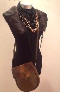 Vintage Trussardi Leather/SSkin Side Handbag Designer Bag