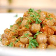 Geek baked chickpeas.  Combine recipe with other geek baked chickpeas  recipe for perfect Greek fest chickpeas.