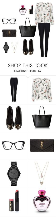 """Untitled #311"" by nadiralorencia on Polyvore featuring Armani Jeans, Tory Burch, Furla, Spitfire, Yves Saint Laurent, Michael Kors, Panacea and Moschino"