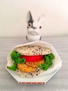 riceburger Plat Vegan, Glutinous Rice