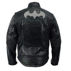 Batman Arkham Knight Nightwing Movie / Halloween Costume Mens Leather Jacket - 4XL / Sheepskin Leather