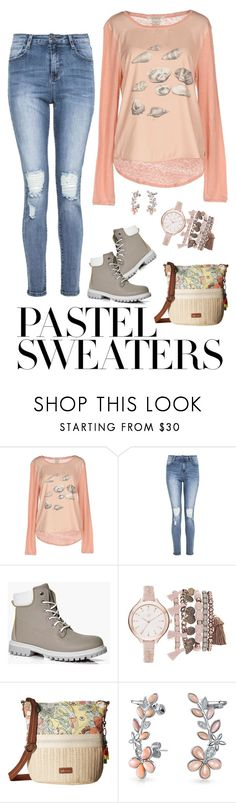 """So Sweet: Pastel Sweaters"" by miriam-witte ❤ liked on Polyvore featuring Maison Scotch, Boohoo, True Craft, Sakroots and Bling Jewelry"