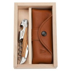 2 Piece Provence Wine Opening Set with Case