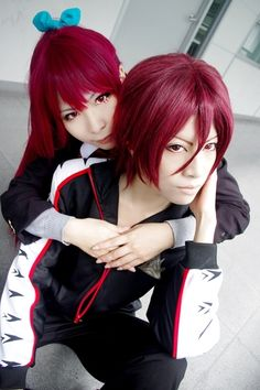 Matsuoka Rin & Matsuoka Gou | Free! #cosplay #anime