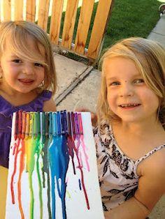 Fugal kids summer fun: Crayon Melting Board
