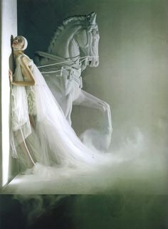 Reminds me of Orlando Furioso - crazy italian TV opera in the 70' - (this pic is by Tim Walker)