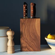 Walnut Knife Block on Food52: http://food52.com/provisions/products/669-walnut-knife-block. #F52Provisions