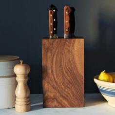 Walnut Knife Block on Food52: http://food52.com/provisions/products/669-walnut-knife-block. #F52Provisions