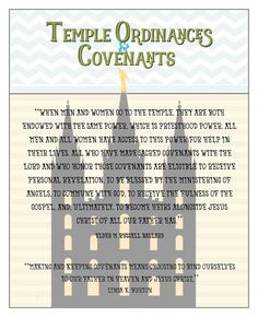 June 2016 Visiting Teaching Message-Temple Ordinances and Covenants- FREE PRINTABLEs